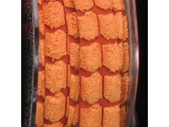 Orange Chenille Blocks Woven Edge Craft Ribbon 3/8
