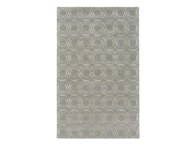 8' x 10' Orbicular Impressions Moon Gray and Star White Hand Tufted Area Throw Rug