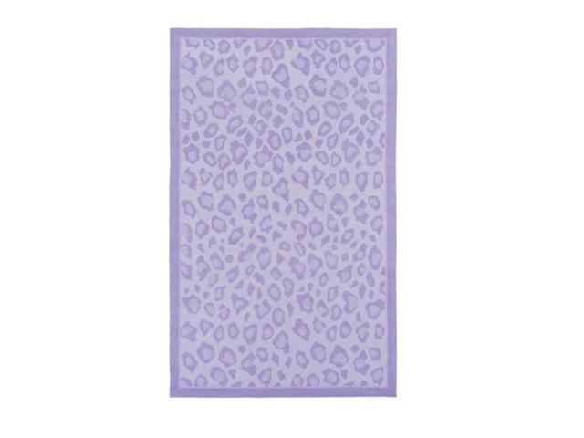 7.5' x 9.5' Magnificent Leopard Lollipop Purple and Lavender Blush Area Throw Rug