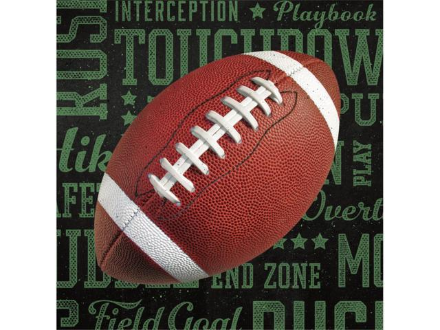 Club Pack of 192 Football Frenzy 2-Ply Paper Disposable Party Lunch Napkins 6.5