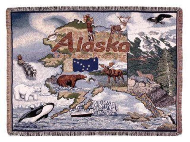 State of Alaska Tapestry Throw Blanket 50