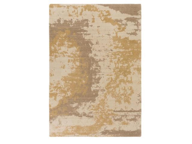5.25'x 7.5' Sunny Terrain Sand White, Biscuit Brown and Beige Brown Area Throw Rug