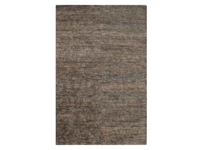5' x 8' Zodiac Mosaic River Rock Gray, Mocha Brown and White Hand Knotted Area Throw Rug