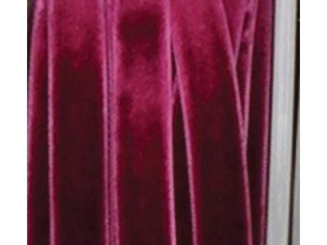 Burgundy Soft Velvet With Woven Edge Decorating Ribbon 3/4