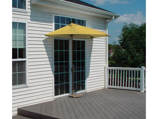 7.5' Half Canopy Patio Market Umbrella: Yellow - Olefin