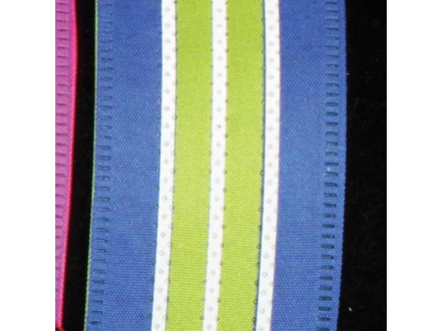 Ribbon Highway Royal Blue and Green Wired Craft Ribbon 1.5