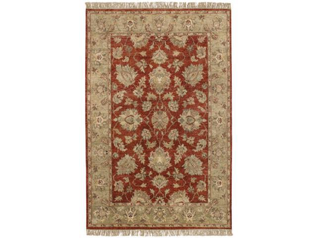 2' x 3' Phul Echo Red Clay, Stone and Tan Rectangular Wool Area Throw Rug