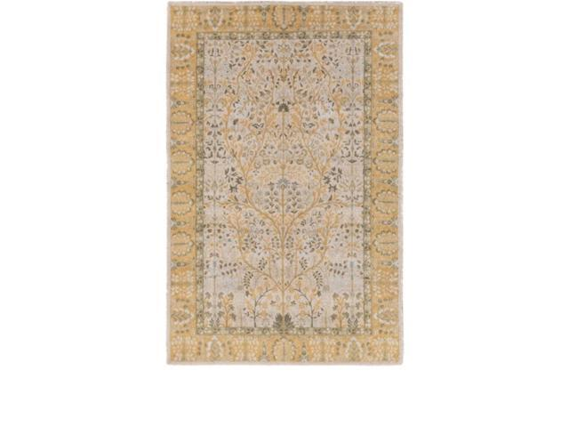 2' x 2.75' Reaching Serenity Sunflower Yellow and Pine Green Area Throw Rug