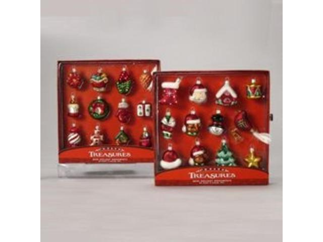 Club Pack of 72 Mini Glass Christmas Ornaments