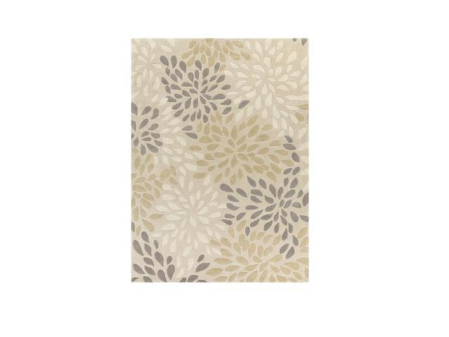 8' x 11' Peculiar Calendulas Desert Sand and Moon Gray Hand Tufted Area Throw Rug