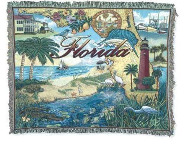 State of Florida Tapestry Throw Blanket 50