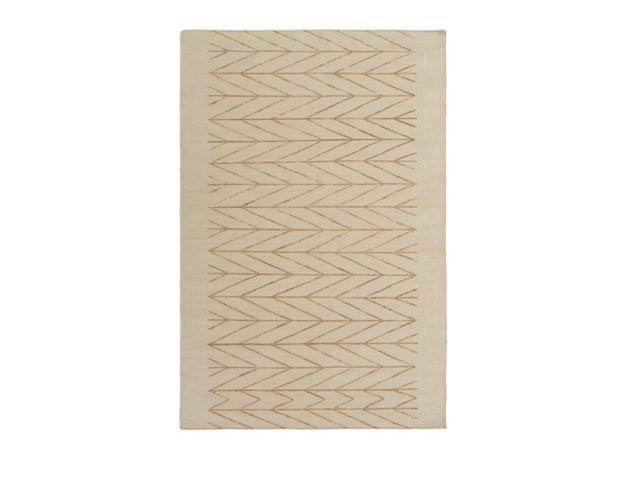 5' x 7.5' Quiescent Impression Butterscotch Brown and Cafe Au Lait Area Throw Rug