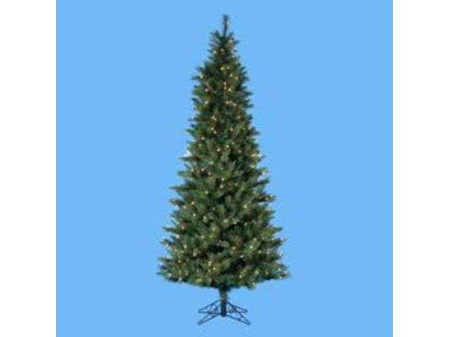 7.5' Pre-Lit Designer Series Classic Green Christmas tree
