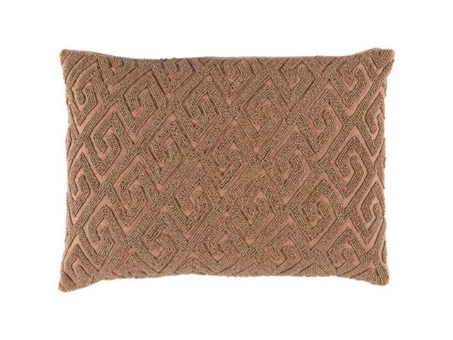 "Sienna Brown Contemporary Textured Woven Decorative Throw Pillow ""13 x 19"""