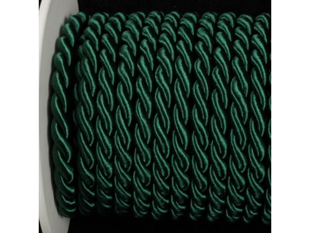 Forest Green Braided Fabric Cording 11mm x 17 Yards
