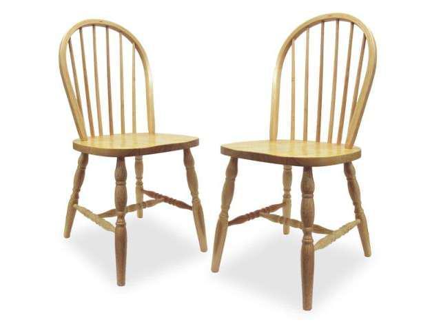 Beech Set of 2 Windsor Chair Turn Legs Assembled