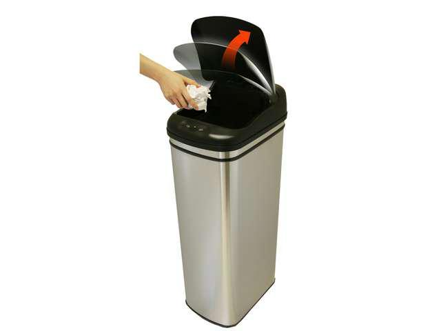 Stainless Hands-Free Infrared Automatic Trash Can