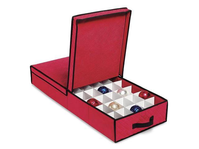 Whitmor Holiday Collection Christmas Giftwrap and Ornament Box