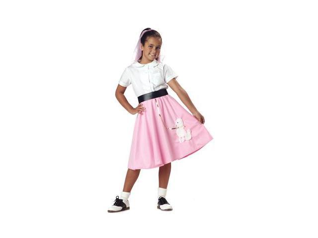50's Poodle Skirt Girls Dress Costume