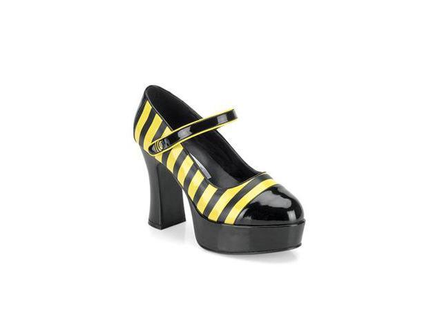 Sexy Bee Stinger Adult Platform Mary Jane Shoes Size:6