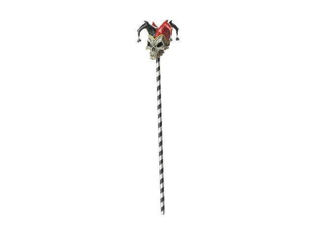 Jester Skull Cane Costume Weapon Accessory