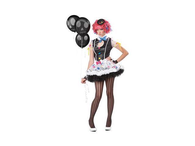 Sassie the Clown Teen Costume Size:Junior-11-13