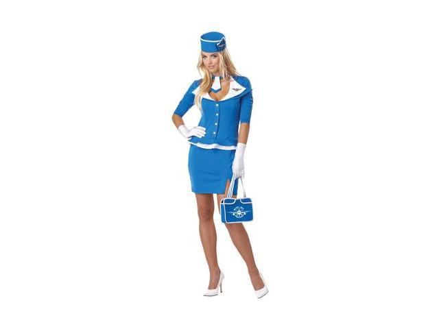 Adult Retroc Stewardess Costume California Costumes 1209