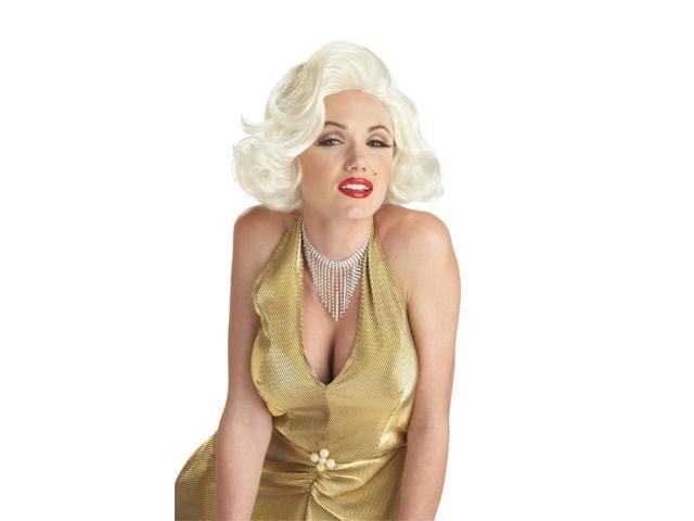Adult Classic Platinum Blonde Marilyn Monroe Wig