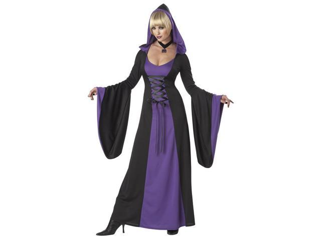 Deluxe Hooded Robe Adult Costume (Purple)
