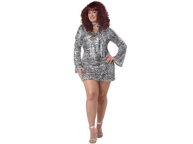 Womens Plus Size Disco Diva Costume