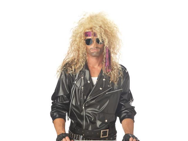 Men's Blonde Heavy Metal Rocker Wig