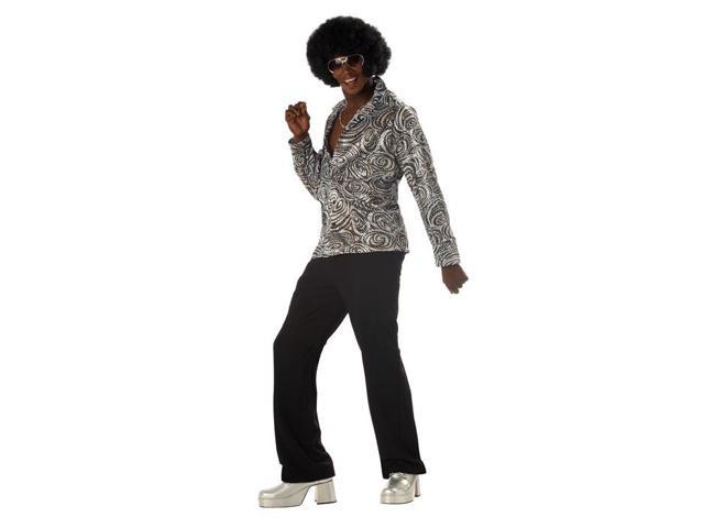 Groovy Disco Shirt Fly Collar Costume