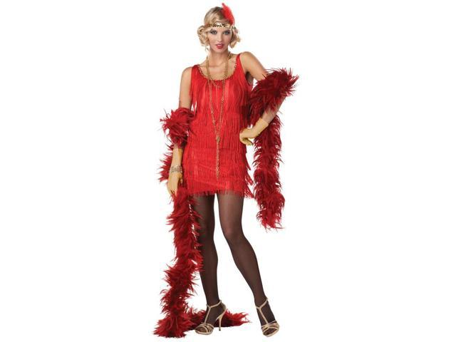 Adult Red Fashion Flapper Costume California Costumes 837