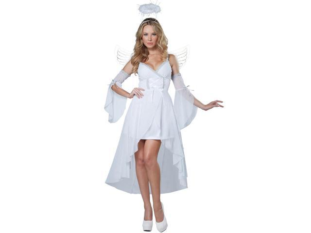 Womens White Heaven's Angel Halloween Costume Dress