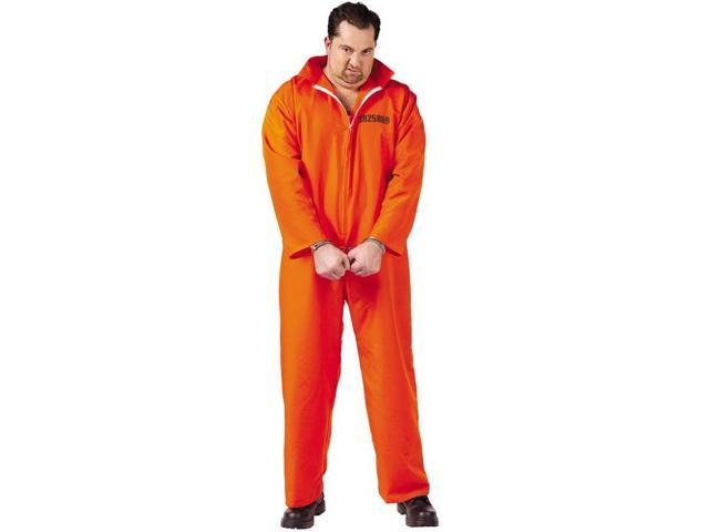 Mens Plus Size Got Busted Costume