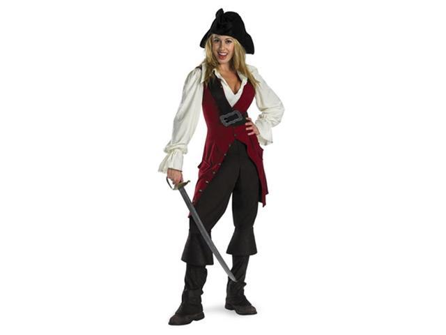 Pirates of the Caribbean - Elizabeth Pirate Deluxe Adult Costume - Adult (12-14)