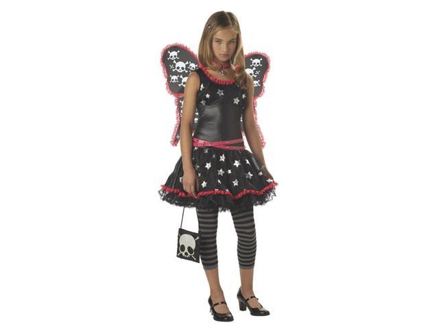 Tween Skulls and Stars Gothic Fairy Costume