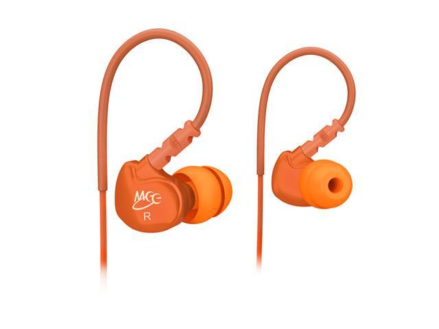 Mee audio M6-OG-MEE Sport Noise-Isolating In-Ear Headphones with Memory Wire (Orange)