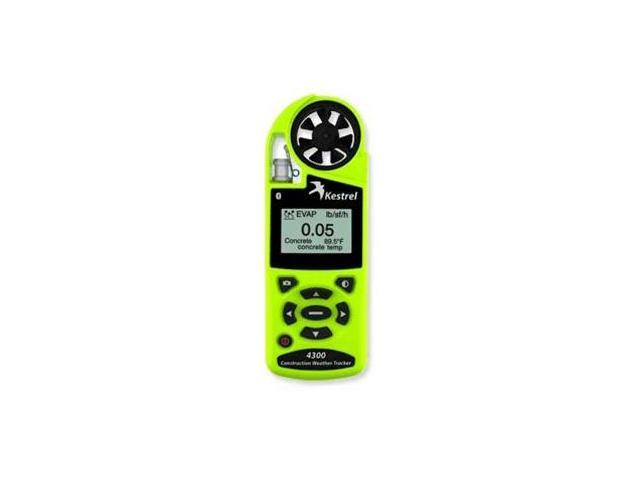 Kestrel 4300 Construction Weather Tracker with Bluetooth Safety Green