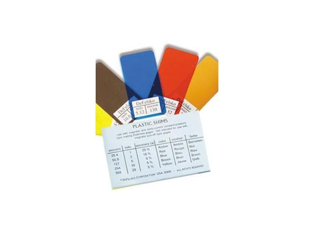 DeFelsko STDSHIMS Thickness Standards Non-Certified Shim Set