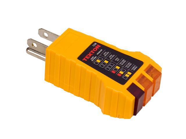Tekton 7338 3-Wire Receptacle Tester