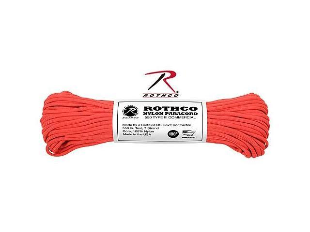 Rothco 146 Red 100' 550lb III Commercial Paracord