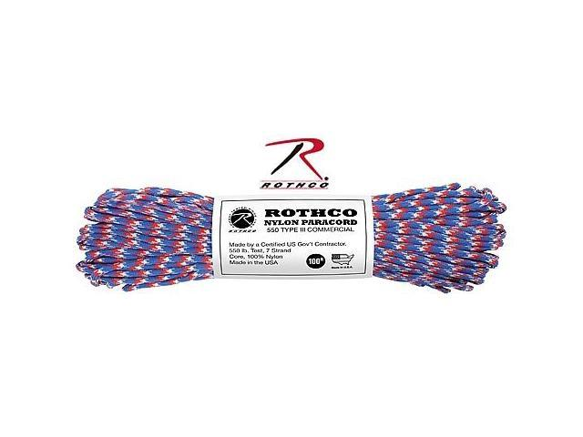 Rothco 154 Pink Camo 100' 550 lb. Type III Commercial Paracord