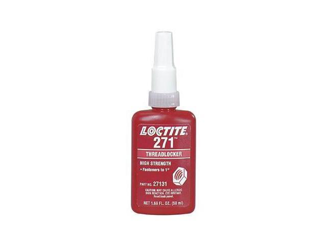 LOCTITE 27131 Threadlocker 271 High Strength, Red, 50 ml Bottle