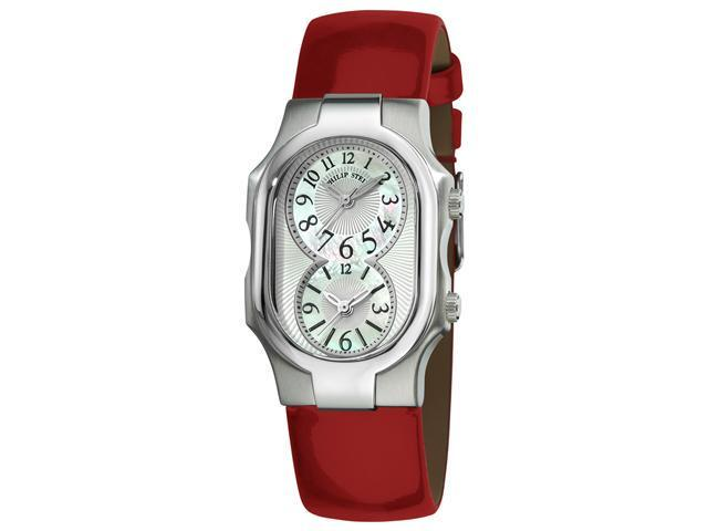 Philip Stein Signature Ladies Shiny Red Leather Strap Watch 1-NFMOP-LR