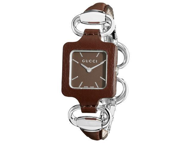 Gucci 1921 Brown Dial Brown Leather Ladies Watch YA130403