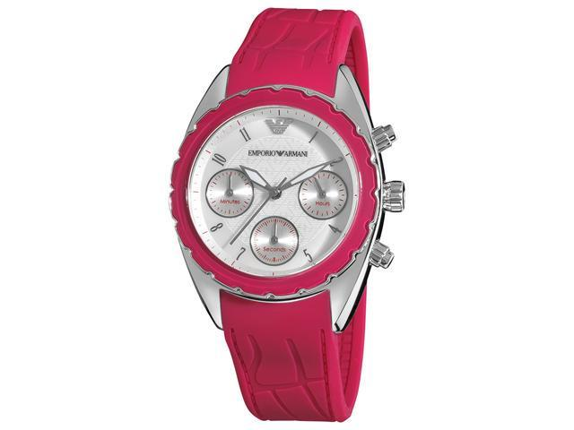 Armani Sport Womens Silver Chronograph Dial Watch