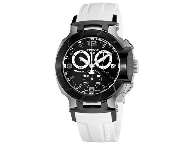 Tissot T-Sport T-Race Mens White Strap Chronograph Watch T048.417.27.057.05