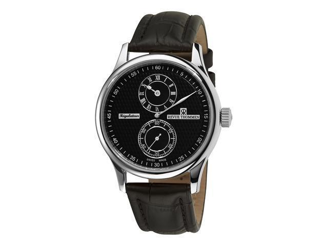 Revue Thommen Regulator Mens Black Face Automatic Regulator Watch 16065.2537