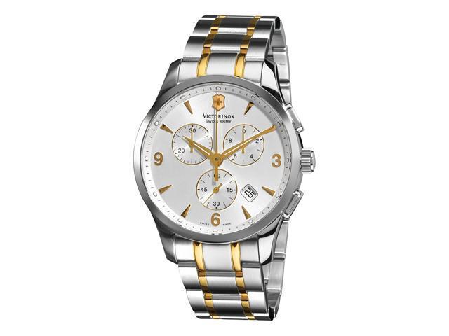 Victorinox Swiss Army Classic Alliance Mens Two Tone Chronograph Watch 241481
